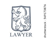 legal office icon. vector... | Shutterstock .eps vector #569173876