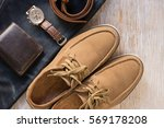 close up vintage leather shoes... | Shutterstock . vector #569178208