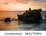 temple of tanah lot in bali at... | Shutterstock . vector #569179096
