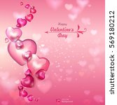 valentine's day. abstract... | Shutterstock .eps vector #569180212