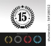 black laurel wreath anniversary.... | Shutterstock .eps vector #569188312