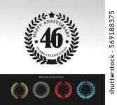 black laurel wreath anniversary.... | Shutterstock .eps vector #569188375