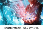 industrial internet of things... | Shutterstock . vector #569194846