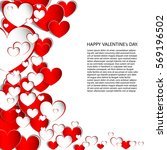 hearts on abstract love... | Shutterstock .eps vector #569196502