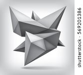 volume geometric shape  3d... | Shutterstock .eps vector #569201386