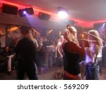Club full with feelings - stock photo