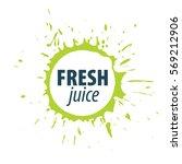 juice splash vector sign | Shutterstock .eps vector #569212906
