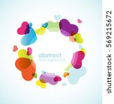 colorful hearts in circle. | Shutterstock .eps vector #569215672