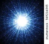bright blast in dark. glowing... | Shutterstock .eps vector #569216545