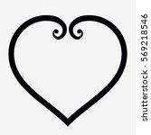 heart outline icon elegant... | Shutterstock .eps vector #569218546
