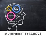 emotional quotient and... | Shutterstock . vector #569228725