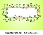 floral background with berries   Shutterstock .eps vector #56923081
