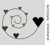 black heart | Shutterstock .eps vector #569231146