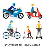 cartoon urban street transport... | Shutterstock .eps vector #569232835
