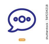vector icon of speech bubble