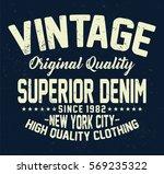 new york city superior denim ... | Shutterstock .eps vector #569235322