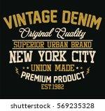 new york city vintage denim ...   Shutterstock .eps vector #569235328