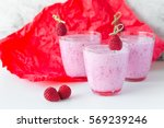 fresh berry smoothie set of... | Shutterstock . vector #569239246