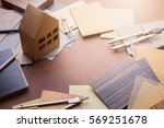 design concept with material... | Shutterstock . vector #569251678