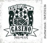 vintage casino logo design  ... | Shutterstock .eps vector #569253136