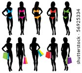 vector fashion model silhouettes | Shutterstock .eps vector #56925334