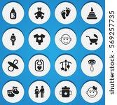 set of 16 editable  icons....