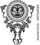 maori tattoo design. idea for...   Shutterstock .eps vector #569265085