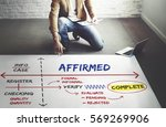 Small photo of Affirmed Authorized Certified Guaranteed Concept