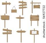 vector set of various wooden... | Shutterstock . vector #56927722