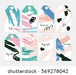roughly scribbled orange cream... | Shutterstock .eps vector #569278042
