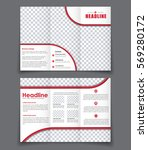 template triple brochure with... | Shutterstock .eps vector #569280172