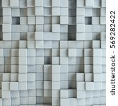 abstract white blocks. template ... | Shutterstock . vector #569282422