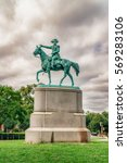 Small photo of WASHINGTON DC, USA - AUGUST 5, 2016: Statue of Nathanael Greene a major general of the Continental Army in the American Revolutionary War, known for his successful command in the Southern Campaign.