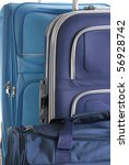 Composition with blue travel bags - stock photo