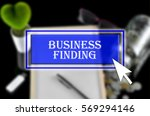 business background with blue... | Shutterstock . vector #569294146