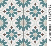 arabic style tiles for wall and ... | Shutterstock .eps vector #569297992
