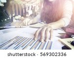 business working at office with ...   Shutterstock . vector #569302336