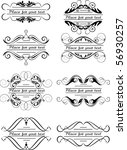 small design elements   set 8 | Shutterstock .eps vector #56930257