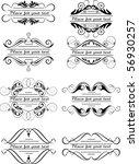 small design elements   set 8 | Shutterstock .eps vector #56930257