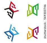 vector logo template. colorful... | Shutterstock .eps vector #569303746