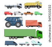 different cars transport vector ... | Shutterstock .eps vector #569310232