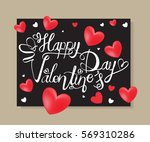 happy valentine's day letter... | Shutterstock .eps vector #569310286
