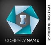 letter i vector logo symbol in...   Shutterstock .eps vector #569314156
