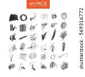 pack of scribble art elements....   Shutterstock .eps vector #569316772