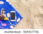 a bottle of sunscreen on a...   Shutterstock . vector #569317756