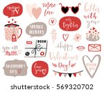 valentines day set with love... | Shutterstock .eps vector #569320702