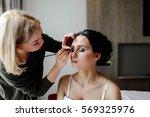 make up makes the bride makeup | Shutterstock . vector #569325976