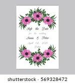 vector illustration. floral... | Shutterstock .eps vector #569328472