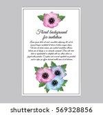 vector illustration. floral... | Shutterstock .eps vector #569328856