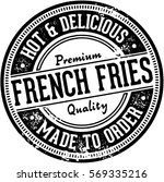 vintage french fries menu... | Shutterstock .eps vector #569335216